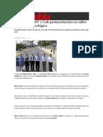 19-02-2015 Sexenio Puebla - Inauguran RMV y Gali Pavimentación en Calles Cercanas Al Ecológico