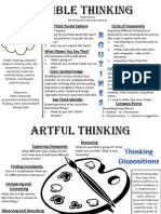 visible and artful thinking- showcase handout