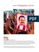 Reappearance of Rajapaksa Cult at Nugegoda
