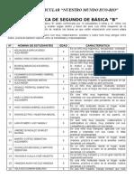 Ficha técnica de segundo de básica