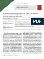 Análisis Dispersión Utilizando the Method in the Feedforward