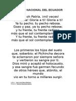 Himno Nacional Del Ecuador y Manualiddes
