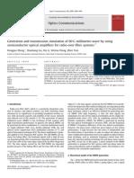 Generación y Simulación de Transmisión Para Sistemas de Radio Sobre Fibra