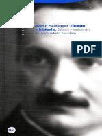 Heidegger 1915 1925 Tiempo e Historia