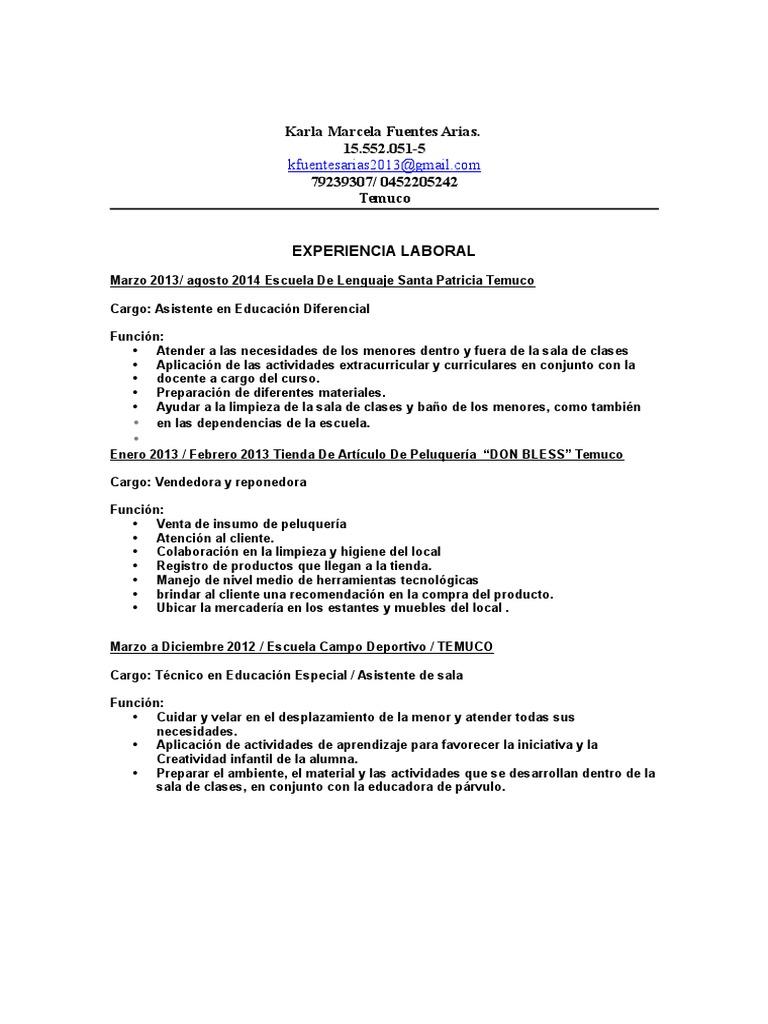 Curriculum Vitae Karla Fuentes 1 1 1