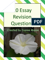 Essay Revision Questions