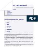 Introductory Statements for Programs