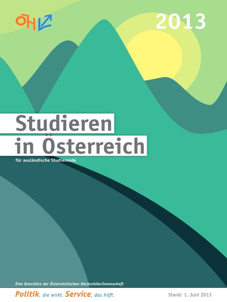 Studieren in OEsterreich Deutsch Juni 2013 Web