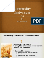 Commodity Deravative Intrrduction