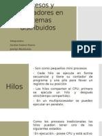 Procesos y Procesadores en Sistemas Distribuidos