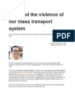 MRT and the Violence of Our Mass Transport System