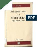 Franz Rosenzweig La Scrittura