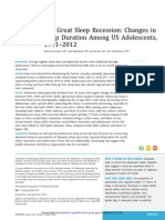 The Great Sleep Recession
