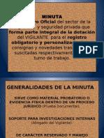 Elaboracion de La Minuta