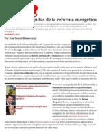 Las letras chiquitas de la Reforma Energética