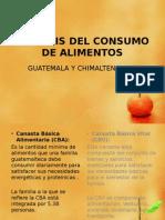ANÁLISIS DEL CONSUMO DE ALIMENTOS (SEMINARIO 2)