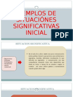 Diapositivas Ejemplos de Situacion Signiificativa2014
