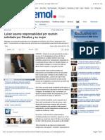 Luksic asume responsabilidad por reunión solicitada por Dávalos y su mujer   Emol.com