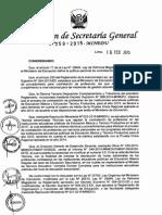 Resolución de Secretaría General Nº 259 2015-MINEDU