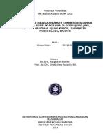 Proposal Penelitian Kajian Agraria