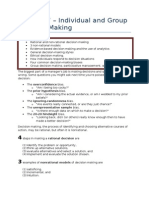 MNO Chapter 07 - Individual and Group Decision Making