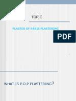 Gypsum Plaster Seminar