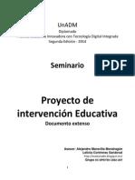 Leticia Contreras EC DPEITDI 1302 2007 Proyecto Intervencion Educativa EXTENSO