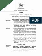 PMK No. 988 ttg Pencantuman Nama Generik Pada Label Obat.pdf