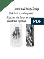 Capacitors & Energy Storage