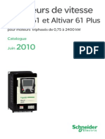 Catalogue variateur de vitesse Altivar