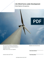 Valuation Models for Wind Farms