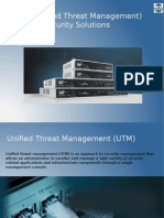 UTM (Unified Threat Management) Security Solutions