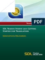 SDL Trados Studio 2011 - Getting Started