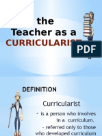 teacher as curricularist