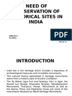 Need of Conservation of Historical Sites in India