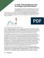 Francesco Gulli Anti-Meningococco B Di Novartis Protegge Nella Prima Infanzia