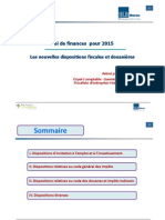 Les Nouvelles Dispositions Fiscales de La Loi de Finance 2015 Par Apport LF 2014