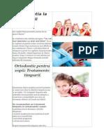 ortodontie copii