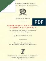 Color rojizo en nuestra historia culinaria