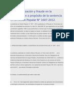 Desnaturalización y fraude en la tercerización a propósito de la sentencia en la Acción Popular N.doc