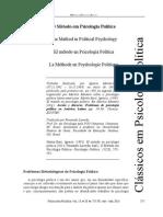 Martín-Baró, Ignacio. (2013). O Método em Psicologia Política. Trad. fernando Lacerda. RPP 13(28).