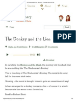 The Donkey and the Lion ..