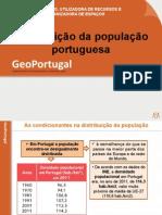 Distribuição da população portuguesa
