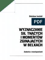 Wyznaczanie Sił Tnących i Momentów Zginających w Belkach - Z. Iwulski