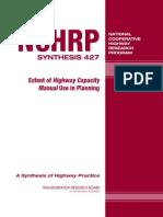 Extent of Highway Capacity