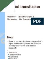 bala murugan blood transfusion
