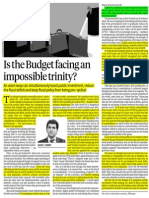 Is Budget Facing Impossible Trinity- Asset Swap