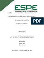 Informe Lab 2  LEY DE OHM Y LEYES DE KIRCHHOFF