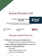 Week 10, Remote Procedure Call
