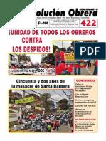 Semanario Revolución Obrera Edición No. 422